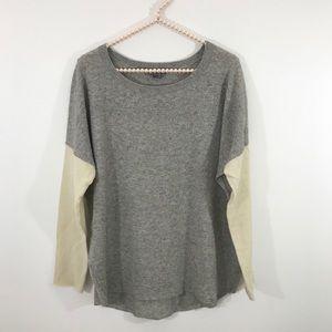 Vince Color Block Cashmere Blend Sweater